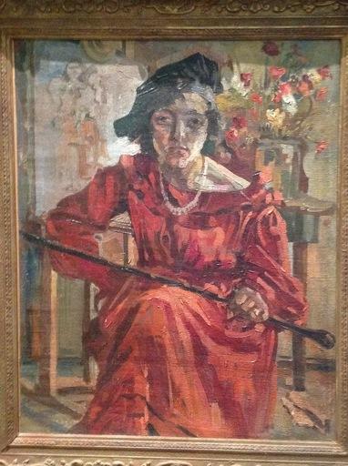 Sigmund LANDAU - Pittura - portrat de bela landau