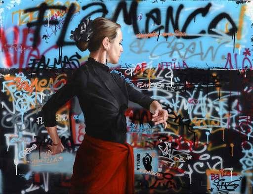 Sylvain LANG - Gemälde - Flamenco