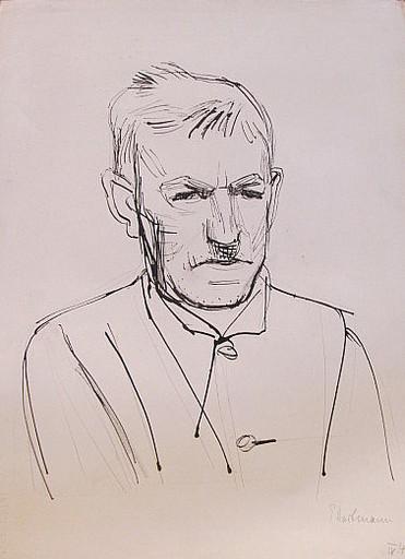Erich HARTMANN - Disegno Acquarello - #19906: Porträt eines Herrn.