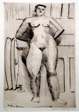 弥尔顿•艾弗里 - 版画 - Standing Nude
