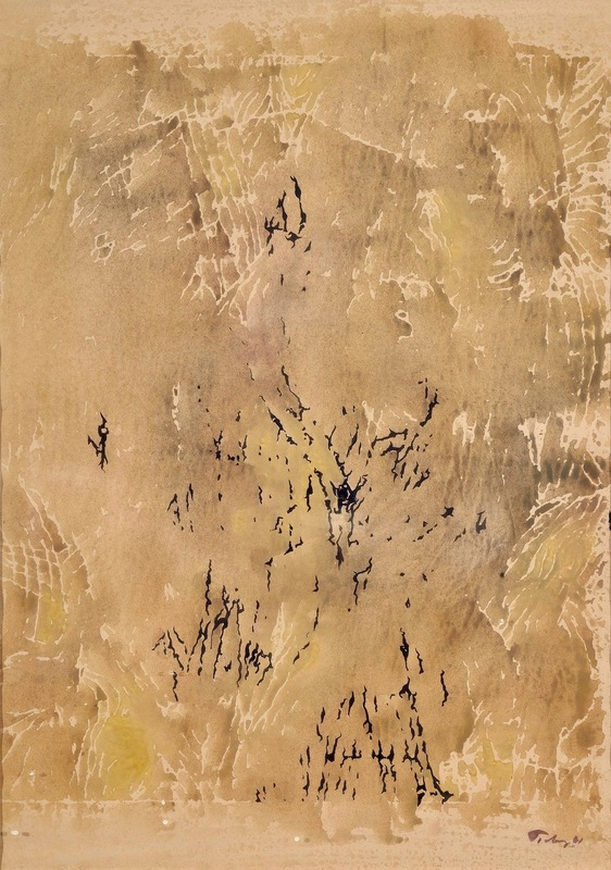 Mark TOBEY - Drawing-Watercolor - Monotype