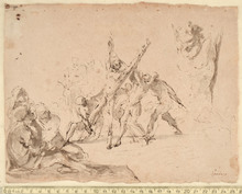 Domenico GARGIULO - Dibujo Acuarela - THE MARTYRDOM OF ST. ANDREW