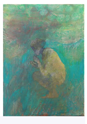 Miyuki TAKANASHI - Gemälde - Squatting Girl