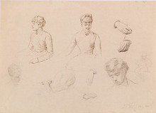 "Eduard VEITH - Dibujo Acuarela - ""Sketches"""
