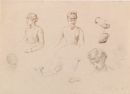 "Eduard VEITH - Drawing-Watercolor - ""Sketches"""