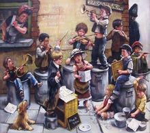 Barry LEIGHTON-JONES - Painting - Paradise Row Orchestra