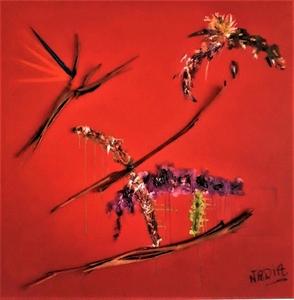 NADIA - Peinture - Vol de l'oiseau de paradis
