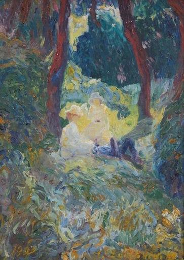 Alexander Ivanovich LAZHECHNIKOV - Pintura - Soir d'automne