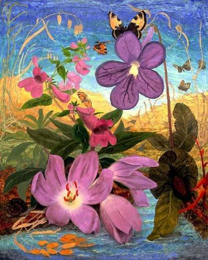 Elvic STEELE - Painting - Colchicum by the Water