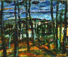Auguste DUREL - Painting - les pins (N°44)