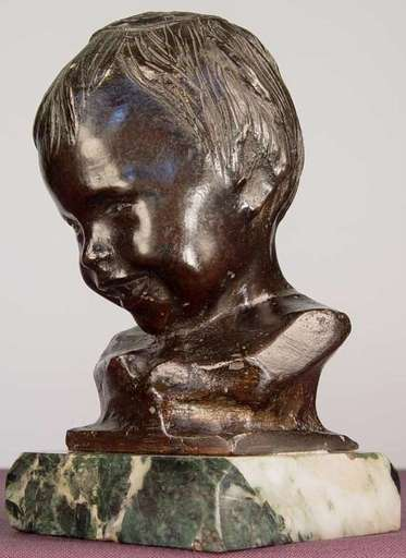 "Bernardo BALESTRIERI - Skulptur Volumen - ""Smiling Child"""