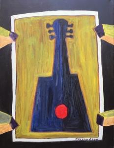 Christian DURIAUD - Pintura - La guitare bleue