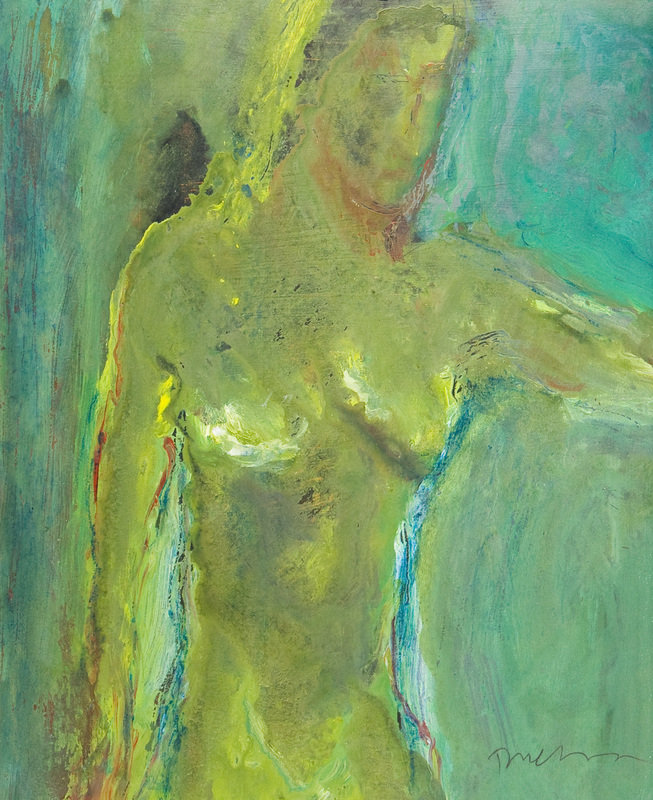 Douglas THOMSON - Pintura - Green Figure