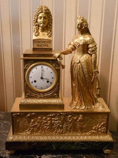Pendule Gloire de Louis XIV, Epoque Restauration