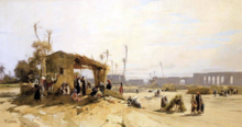 Hermann CORRODI - Pintura - View of Cartagine (Tunisi)