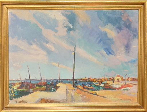 Juan Bautista PORCAR RIPOLLÉS - Peinture - Portuario - Castellón