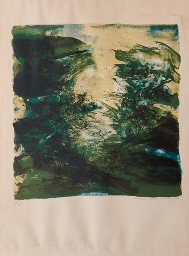 赵无极 - 版画 - Compositionn verte 1970
