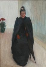 Louis ANQUETIN - Peinture - Femme à la voilette