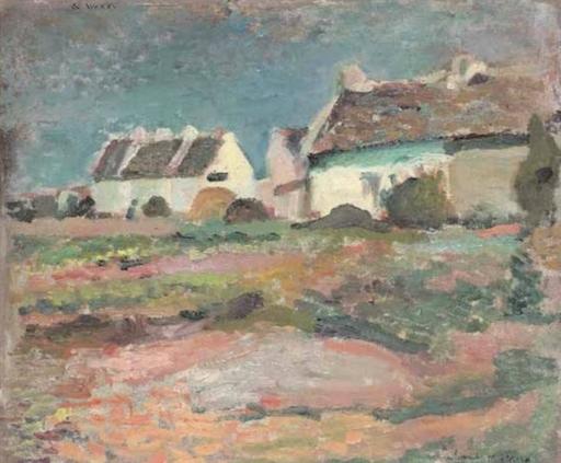 Henri MATISSE - Pintura - Maisons à Kervilahouen, Belle-Ile
