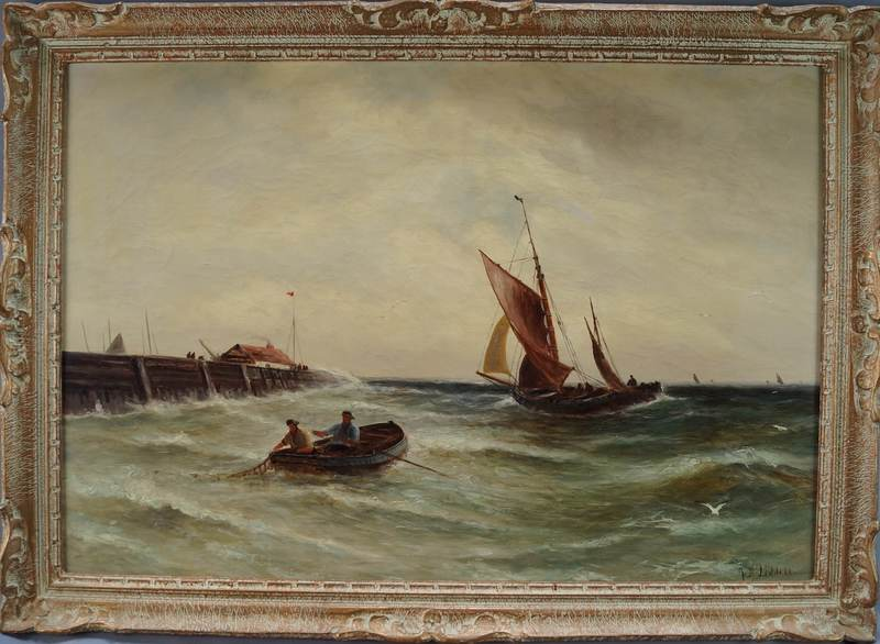 John Davison LIDDELL - Peinture - Départ de pêche