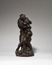 Aimé-Jules DALOU - Sculpture-Volume - Nymphe et faune (Le Baiser)