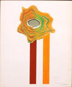 Shozo SHIMAMOTO - Gemälde - SENZA TITOLO