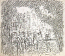 Pierre BONNARD - Dibujo Acuarela - Sur la plateforme d'un omnibus