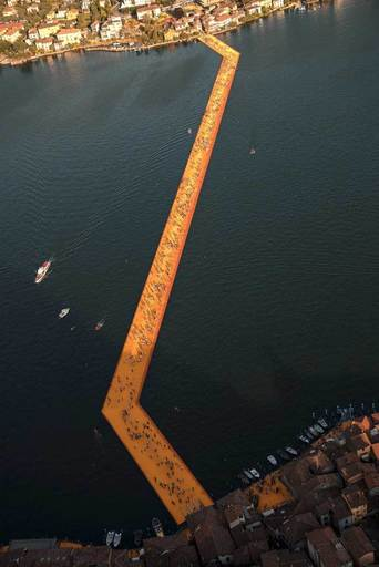 CHRISTO - Photo - Lago d'Iseo - WV24