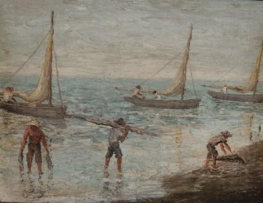 Carlos SOBRINO - Painting - Cuban fisherman