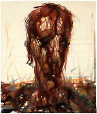 Max UHLIG - Drawing-Watercolor - Kopf 'B.'