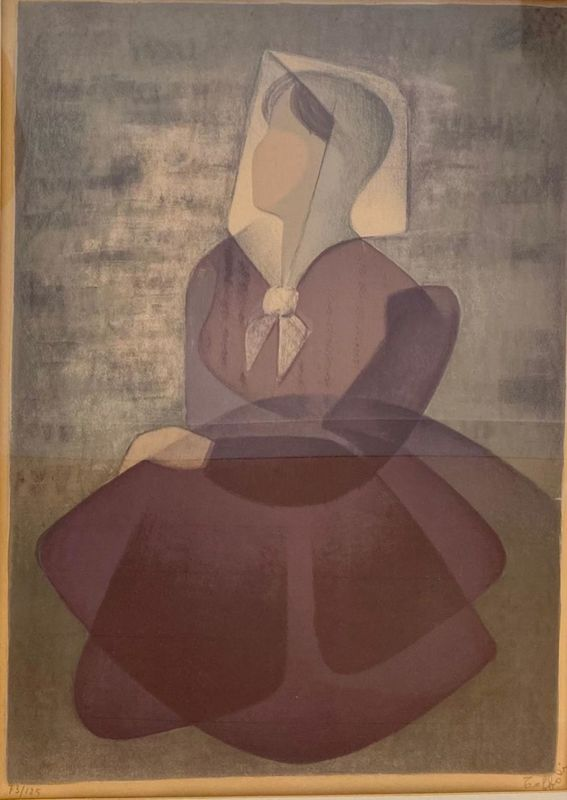 Louis TOFFOLI - Print-Multiple - Seated Woman