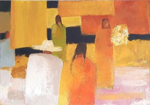 Bernard CATHELIN - Pintura - Marché Ensoleillé