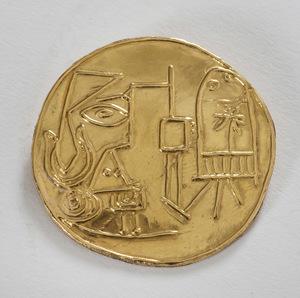 Pablo PICASSO - Sculpture-Volume - Jacqueline au chevalet