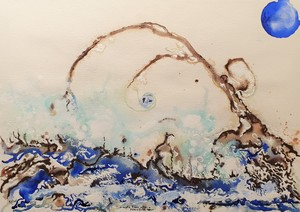 Rafael DE TOURS - Peinture - A male tree after a peacefull rain