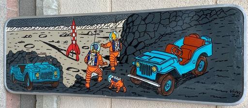 VINC - Gemälde - Panneau de signalisation - Tintin - 2000