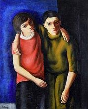 Moïse KISLING - Pintura - Frère et Sœur