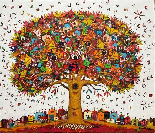 Jean-François LARRIEU - Peinture - The Tree of Life