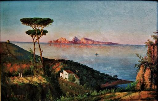 Karl Ernst LANGE - Gemälde - Paysage méditerranéen