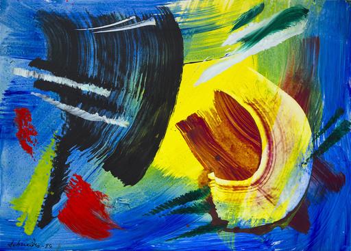 Gérard SCHNEIDER - Painting - Composition 1984