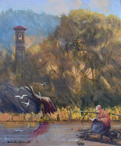 Silvestro PISTOLESI - Painting - Il vecchio campanile
