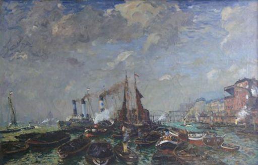 Ulrich HÜBNER - Painting - Hamburger Hafen