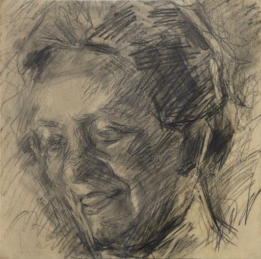 Umberto BOCCIONI - Dibujo Acuarela - Studio per il ritratto della signora Meta Quarck