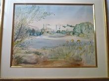 Lucien JACQUES - Drawing-Watercolor - Villeneuve lez Avignon