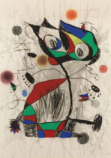 Joan MIRO - Estampe-Multiple - L'Ecoliere au Buisson