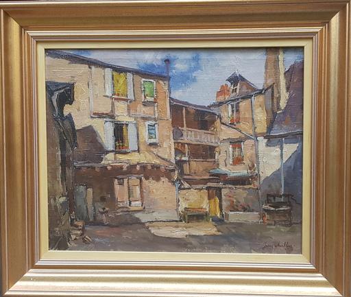 Jean CHELLER - Gemälde - La cour des verriers
