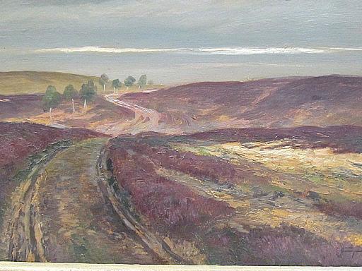 Hans FENGER - Painting - Heidelandschaft - Lüneburger Heide