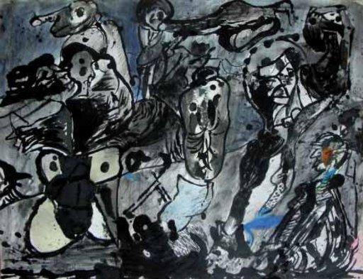 Alfonso BONIFACIO - Painting - sin titulo