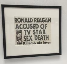 Keith HARING - Peinture - Ronald Reagan accused of TV star sex death.