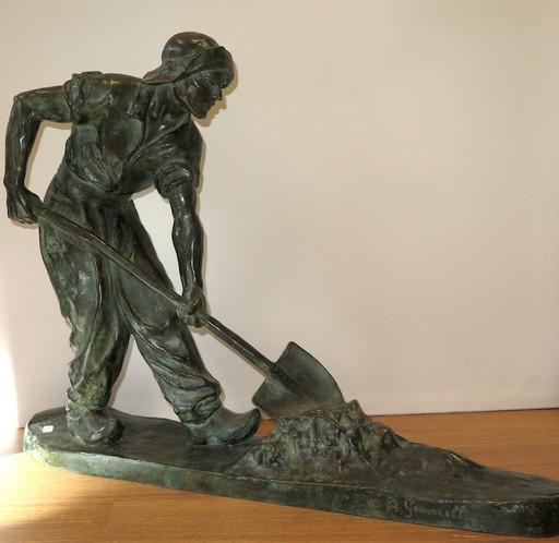 Amedeo GENNARELLI - Sculpture-Volume - Le ramasseur de goémon