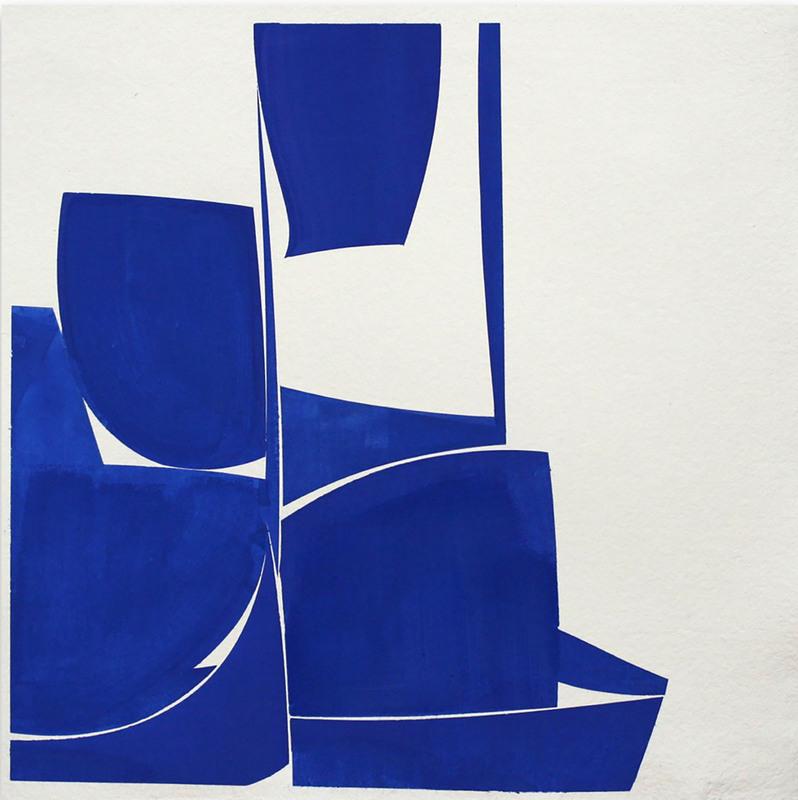 Joanne FREEMAN - Drawing-Watercolor - Covers 24 Blue I Summer